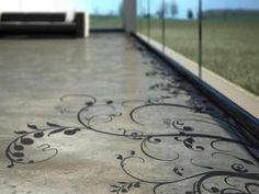 Beautiful concrete flooring- would be fantastic on a patio