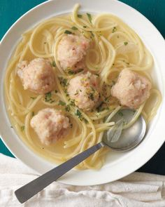 Shrimp Scampi Meatballs in Garlicky Broth Recipe