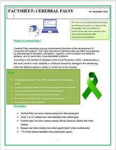 Free Printable Cerebral Palsy Fact Sheet What Is Cerebral Palsy, Teaching Strategies, Early Childhood, Disorders, Free Printables, Facts, Learning, Infancy, Free Printable
