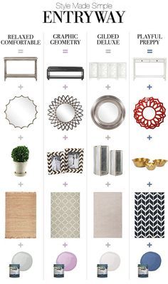 Entryway Storage Solutions STYLE MADE SIMPLE: ENTRYWAY With the holidays approaching, it's time to create a beautifully inviting entryway for guests. Foyer Decorating, Decorating Tips, Interior Decorating, Entryway Storage, Entryway Decor, Entryway Ideas, Home Staging, Home Office Inspiration, Decoration Entree