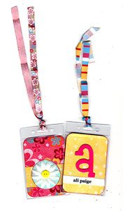 For diaper bag tags