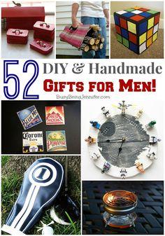 52 DIY and Handmade Gifts for Men! - BusyBeingJennifer.com