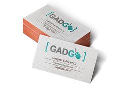 """Logo/visitkort til fiktivt gadgetwebshop jeg kaldte """"gadgo"""""""