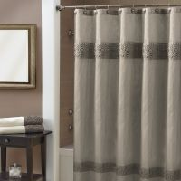 Croscill Giralda Shower Curtain In Silver The Polyester Faux Silk Has Borders Running