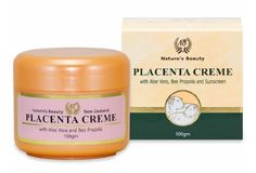 Nature's Beauty Sheep Placenta Cream, 100 Grams by Nature's Beauty. $24.95. Revitalizing anti-wrinkle cream. Contains lanolin (natural skin conditioner). Contains vitamin E and SPF 8 sunscreen. Contains aloe vera and bee propolis (natural healing agent). Contains pure New Zealand sheep placenta extract. A revitalizing anti-wrinkle crème, ideal for rejuvenating tired and unhealthy skin cells on the face, neck and hands. Contains nutrient-rich placenta, enriched wi...