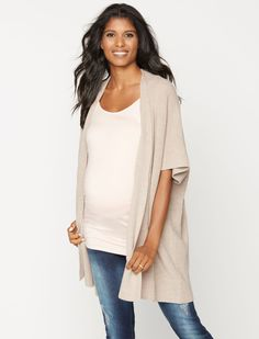 The perfect wear with everything cardigan | elbow sleeve wrap maternity sweater by Tart Collections available at A Pea in the Pod