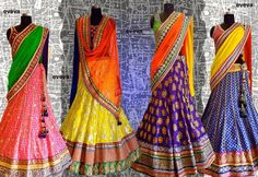 Chaniya Choli - <3 the colors! Awesome collection for the Bridesmaids.