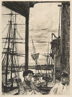 Rotherhithe  James McNeill Whistler (American, Lowell, Massachusetts 1834–1903 London)  Date: 1860 Medium: Etching and drypoint; third state of three Dimensions: image: 10 7/8 x 7 7/8 in. (27.6 x 20 cm) sheet: 15 15/16 x 10 1/4 in. (40.5 x 26 cm) Classification: Prints Credit Line: Harris Brisbane Dick Fund, 1917 Accession Number: 17.3.49