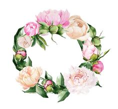 Find images and videos about text, design and free on We Heart It - the app to get lost in what you love. Wreath Watercolor, Watercolor Drawing, Watercolor Flowers, Watercolor Paintings, Tole Painting, Fabric Painting, Botanical Art, Botanical Illustration, Flower Frame