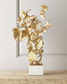 Floating Ginkgo Leaves Sculpture - John-Richard Collection