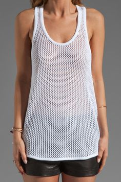Autumn Cashmere Hand Crochet Skull Tank in Bleach White | REVOLVE