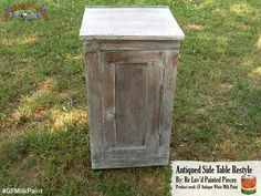 Re-Luv'd Painted Pieces, https://www.facebook.com/ReLuvdPaintedPieces?fref=ts, used General Finishes Antique White Milk Paint and did a white wash effect on this cabinet for a great rustic look. We'd love to see your projects made with General Finishes products! Tag us with @GeneralFinishes and make sure to let us know which products you used! #generalfinishes #gfmilkpaint #distressedfurniture