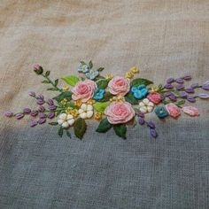 #Embroidery #flower #handmade #gachi