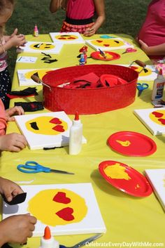 Check out these great decoration and game ideas for your Emoji Party! Smiley faces, smiling piles of poo and all sorts of other things your kids will love.