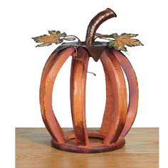 "Wood Harvest Pumpkin Size: 12"" in ht; 8.5"" in width; 5.5"" in depth Material:  Wood"