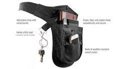 Unisex Black Multi-Pocket Belt Pack