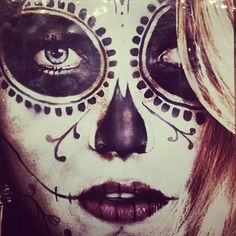 Photo by nylonmag • Instagram Blake Lively in skull makeuP