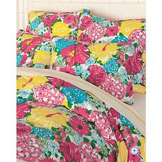 Lilly Pulitzer Bedding | Lilly Pulitzer® Heritage Floral Sateen Comforter Cover and Sham ...