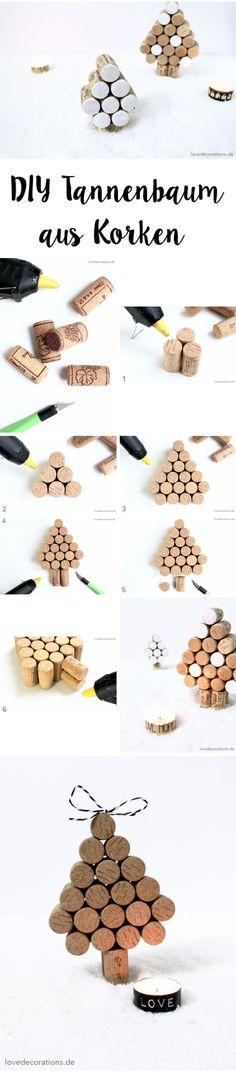 DIY Tannenbaum aus Korken | DIY Cork Christmas Tree                                                                                                                                                                                 Mehr