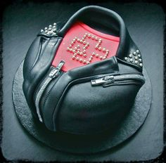 Rammstein t shirt and leather jacket cake, need this for my next birthday!! @jesscamuso