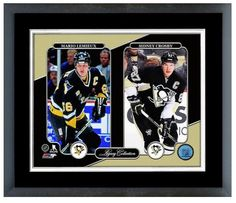 Mario Lemieux & Sidney Crosby Penguins Legacy Collection Framed/Matted Photo