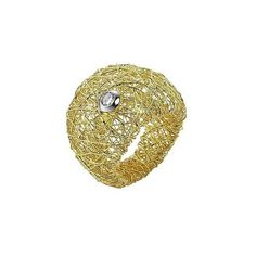 Orlando Orlandini Designer Rings Arianna - 18K Gold Wide Ring w/ Round... (3 745 AUD) ❤ liked on Polyvore featuring jewelry, rings, gold, red ring, yellow gold diamond rings, yellow gold rings, 18k ring and diamond braided ring