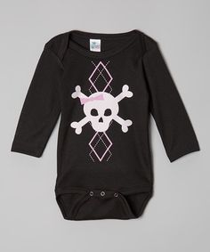 Take a look at this Black & Pink Argyle Skull Bodysuit - Infant by Crazy Baby Clothing on #zulily today!