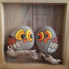 """Find and save images from the """"Kreativ - Rock / Stone / Pebble Art"""" collection by Gabis Welt :) (gabi_zitzen) on We Heart It, your everyday app to get lost in what you love. Pebble Painting, Pebble Art, Stone Painting, Diy Painting, Stone Crafts, Rock Crafts, Arts And Crafts, Bird Crafts, Fun Crafts"""