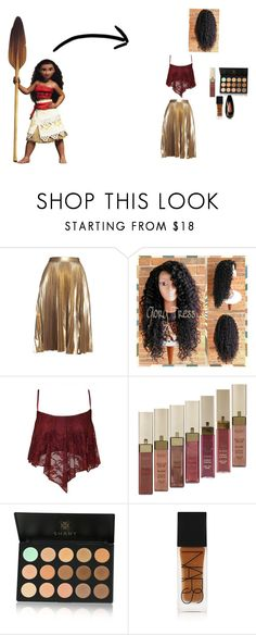 """""""Modern day Moana"""" by maggiewaggie ❤ liked on Polyvore featuring Disney, A.L.C., L'Oréal Paris, Shany, NARS Cosmetics, Temptu and modern"""