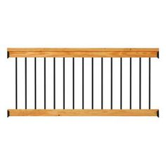 Aluminum Cedar-Tone Southern Yellow Pine Deck Railing - The Home Depot Deck With Pergola, Wooden Pergola, Pergola Plans, Pergola Kits, Pergola Ideas, Black Pergola, Diy Pergola, Patio Roof, Pergola Cover