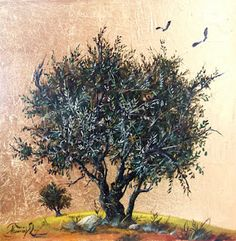 Gold leaves Original Handmade Oil Landscape Painting on canvas Greek Paintings, Canvas Painting Landscape, Landscape Paintings Acrylic, Landscape Paintings, Artist Inspiration, Olive Tree Painting, Oil Painting Landscape, Tree Painting, Fruit Art