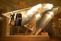 """Louis Vuitton, London UK with artist Frank Gehry """"experimentation with aluminium sheets"""", pinned by Ton van der Veer"""