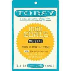 Tackling just two things at a time is much more manageable for usprocrastinators. Mini Goals Notepad | Portage Bay Goods Portage Bay, Cool Office Supplies, Cute Notes, Focus On Your Goals, Paper Source, Write It Down, Note Paper, Getting Things Done