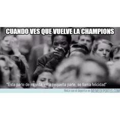 Cuando ves que vuelve la Champions en menos de una hora #Alfinvuelve #ChampionsLeague #Felicidad #Octavos