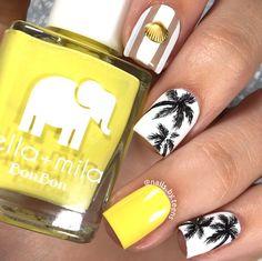 nails.quenalbertini: Palm tree nail art by nails.by.teens