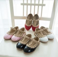 Princess Baby Girls Dace Shoes Leather Rivets Casual Shoes Candy Color Western Party Shoes Christmas Gifts Retail Shoes Online with $10.72/Piece on Smartmart's Store | DHgate.com