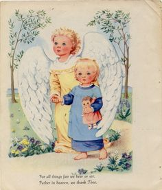 Vintage Illustration Guardian Angel from by ankiradesign on Etsy