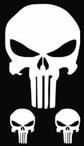 Punisher Skull Custom Decal Sticker  Inch Custom Decal - Custom decal stickers