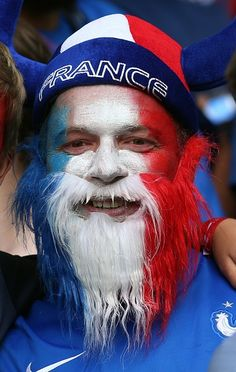 #EURO2016 France fan enjoys the atmosphere prior to the UEFA EURO 2016 Group A match between Switzerland and France at Stade PierreMauroy on June 19 2016 in...