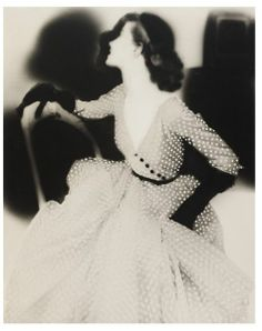 Lillian Bassman, dress by Omar Kiam for Ben Reig, American Harper's Bazaar, 1950. Museum no. PH.16-1986, © Victoria and Albert Museum, London