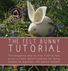 DIY felted bunny ~ beginner level sewing tutorial for rabbit shape ~ $4.40 digital PDF tutorial for instant download | from KnechtRuprecht shop @ Etsy
