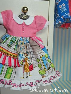 Nanette Noisettes Tea FRENCH SRING DRESS for Blythe and Licca
