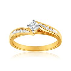Montana Solitaire Diamond Ring in 18ct Gold (TW=25pt) image-a