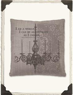 DOWNTON ABBEY PILLOW (I AM A WOMAN)