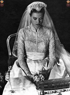 The Wedding of the Century in Monaco ~ Grace Kelly wed HSH Rainier III, Prince…