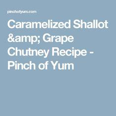 Caramelized Shallot & Grape Chutney Recipe - Pinch of Yum