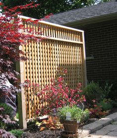 Patio Privacy Screen using recycled cedar posts - Readers Gallery - Fine Woodworking