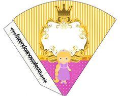 Cone Guloseimas Princesa Loira Cone, Princess Rapunzel, Playing Cards, Games, Party Kit, Sweet Like Candy, Kids Part, Blond, Blue