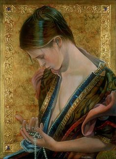 Fred Wessel EGG TEMPERA with GOLD LEAF