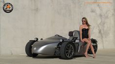 Tri Pod 1 kit car. 3 wheeler with light weight and high performance. Three wheel car. Reverse trike.